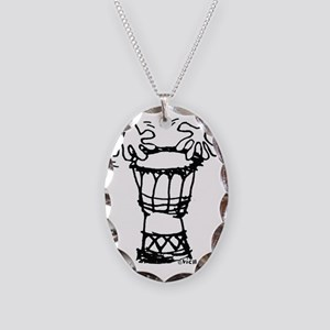 Drummie Hands. eps Necklace Oval Charm