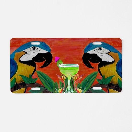 Parrots  Margarita Aluminum License Plate