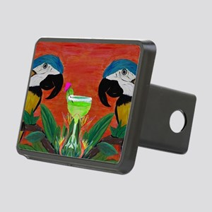 Parrots  Margarita Rectangular Hitch Cover