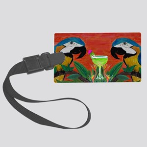 Parrots  Margarita Large Luggage Tag