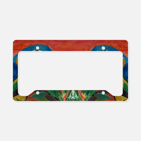 Parrots  Margarita License Plate Holder
