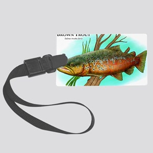 Brown Trout Large Luggage Tag