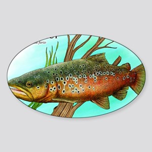 Brown Trout Sticker (Oval)