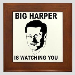 Big Harper is Watching You Framed Tile