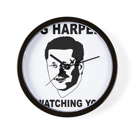 Big Harper is Watching You Wall Clock
