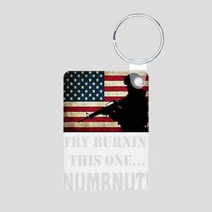 Try Numbnut dark Aluminum Photo Keychain