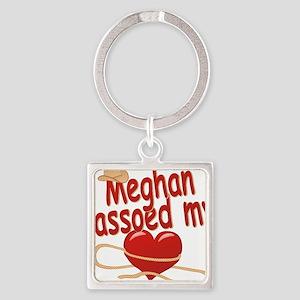meghan-g-lassoed Square Keychain
