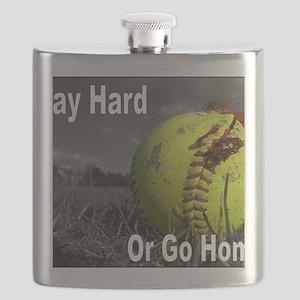 softball play hard or go home Flask