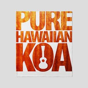 Pure Hawaiian Koa Throw Blanket