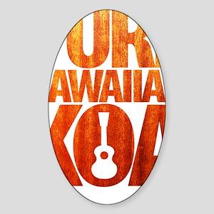Pure Hawaiian Koa Sticker (Oval)