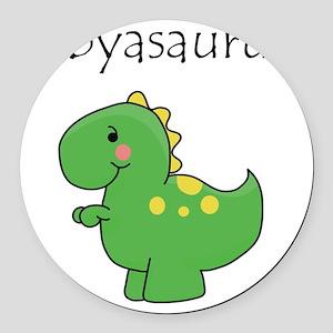 babyasaurus Round Car Magnet