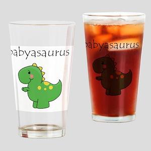 babyasaurus Drinking Glass