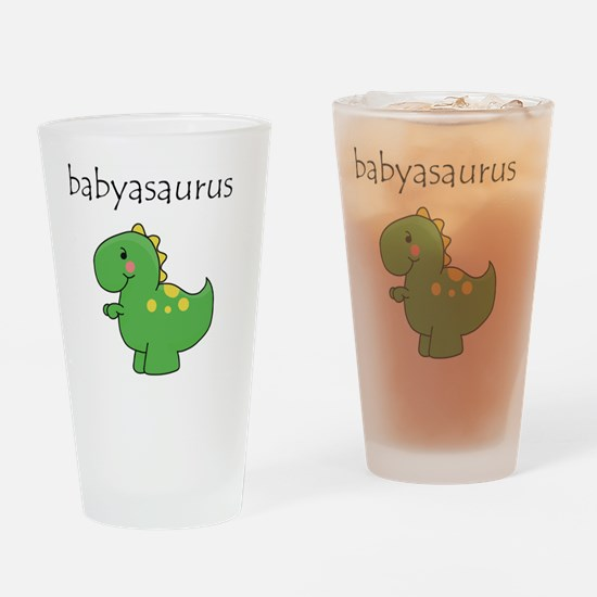 babyasaurus Drinking Glass