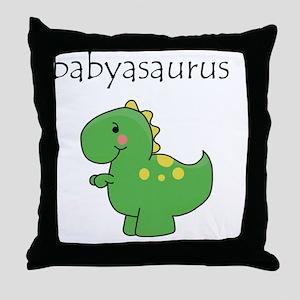 babyasaurus Throw Pillow