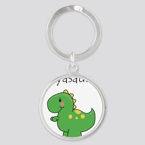 babyasaurus Round Keychain