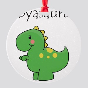 babyasaurus Round Ornament