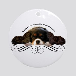 Cavalier Cute plain Ornament (Round)