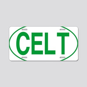 Celt Green for White Aluminum License Plate
