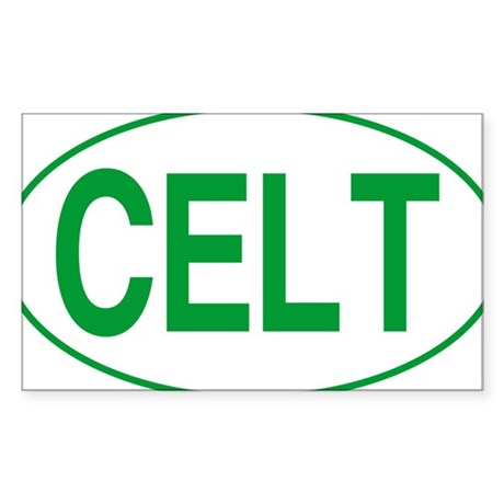 Celt Green for White Sticker (Rectangle)
