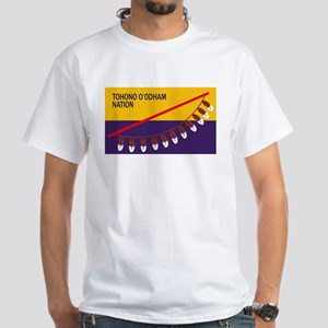Tohono O'odham Flag White T-Shirt