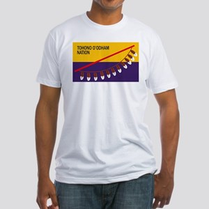 Tohono O'odham Flag Fitted T-Shirt