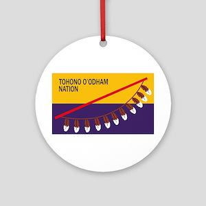 Tohono O'odham Flag Ornament (Round)