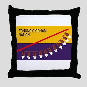 Tohono O'odham Flag Throw Pillow