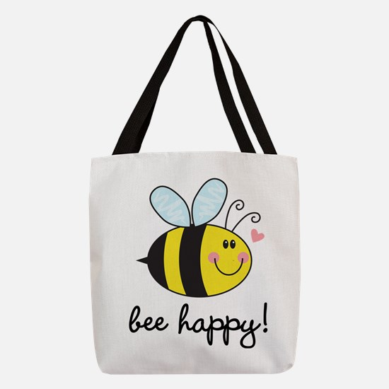 Bee Happy Polyester Tote Bag