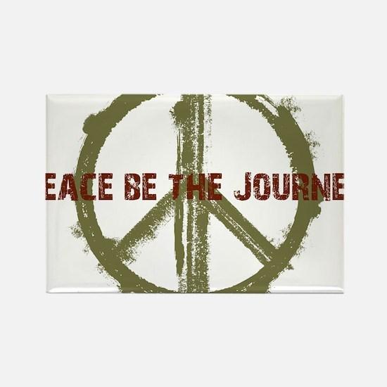 Peace Be The Journey - Kaki Rectangle Magnet