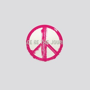 Peace be the Journey - Pink Black Mini Button