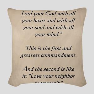 Command3 Woven Throw Pillow