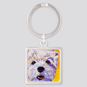 West Highland Terrier- Sunny Square Keychain