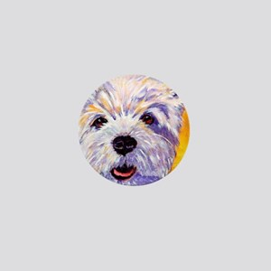 West Highland Terrier- Sunny Mini Button
