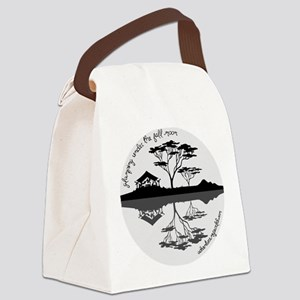 Glamping Under The Full Moon Canvas Lunch Bag