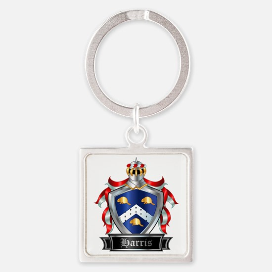 HARRIS COAT OF ARMS Square Keychain