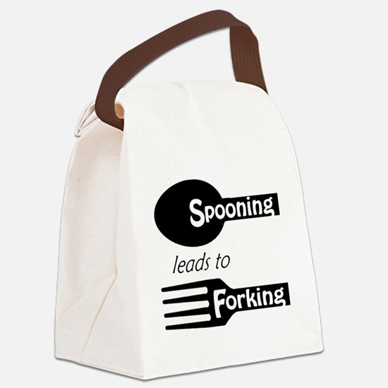 Spooning leads to Forking Canvas Lunch Bag