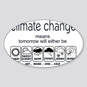 CLIMATE CHANGE t-shirt Sticker (Oval)