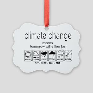 CLIMATE CHANGE t-shirt Picture Ornament