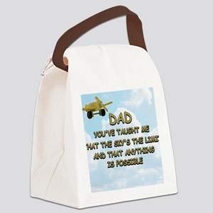 dad_airplane_sky Canvas Lunch Bag