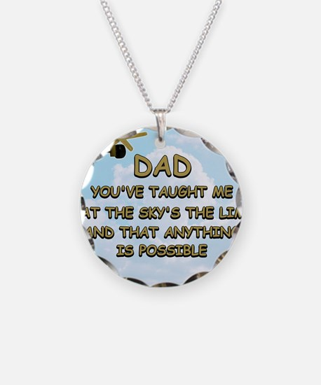 dad_airplane_sky Necklace