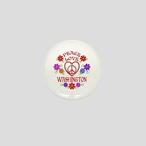Peace Love Washington Mini Button