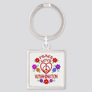 Peace Love Washington Square Keychain