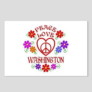 Peace Love Washington Postcards (Package of 8)