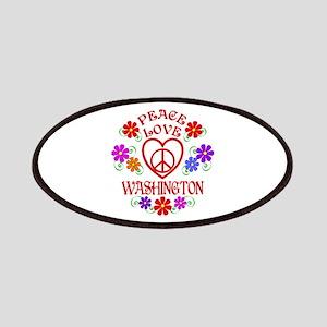 Peace Love Washington Patch