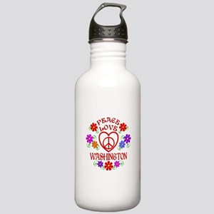 Peace Love Washington Stainless Water Bottle 1.0L
