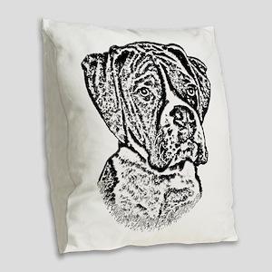 B@w Boxer Burlap Throw Pillow