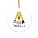Masonic Brotherhood Ornament (Round)