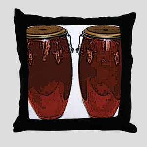 RUST COLORED congasTumba_4CTI Throw Pillow