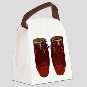 RUST COLORED congasTumba_4CTI Canvas Lunch Bag
