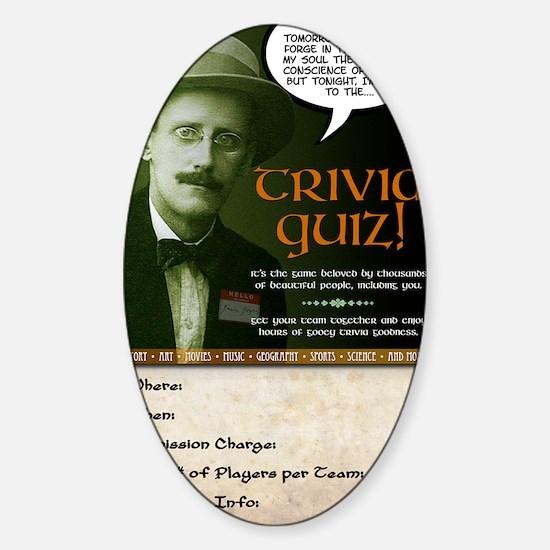 pub_quiz-poster_04 Sticker (Oval)